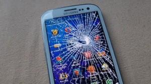 Разбитый телефон на ОС Андроид