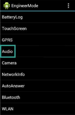 Инженерное меню Андроид