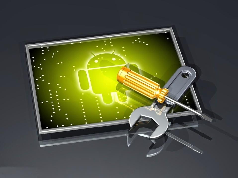 планшет андроид с инструментами