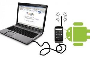 подключение компьютера к интернету через андроид